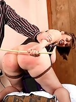 caned on her sex...